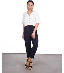 calça modelo pijama feminina listra lateral - feminino