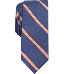 bar iii men's abbey skinny stripe tie, created for macy's