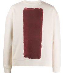 a-cold-wall* crew neck painted print sweatshirt - neutrals