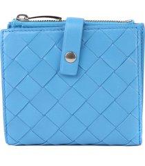 bottega veneta continental bi-fold wallet in nappa leather intreccio motif