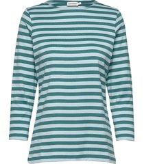 ilma shirt t-shirts & tops long-sleeved blauw marimekko