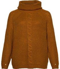 carlania roll neck pullover knt turtleneck polotröja brun only carmakoma