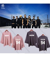 kpop monsta x wide sleeve sweater coat women hoodie sweatershirt pullover wonho