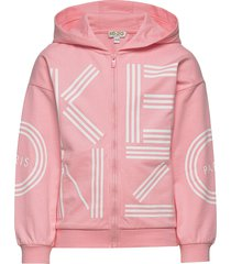 logo jg 4 hoodie trui roze kenzo
