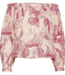 2nd mars domingo blouse lange mouwen roze 2ndday