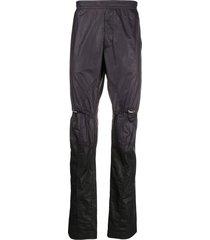 1017 alyx 9sm waxed finish trousers - black