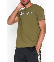 champion reverse weave crewneck t-shirt t-shirts & linnen mörk grön