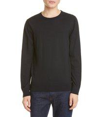 men's a.p.c. pull julien solid crewneck sweater, size x-small - black