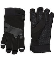 ribbed fleece gloves