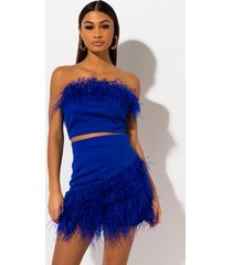 akira i will wait feather mini skirt