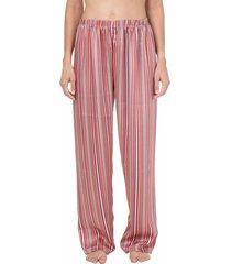 calça cetim homewear listrada - 589.0721 marcyn lingerie pijamas multicolorido