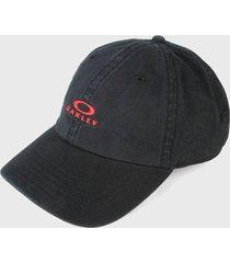 gorra negro-rojo oakley dad ellipse