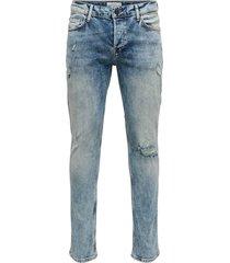 slim fit jeans onsloom light blue damage