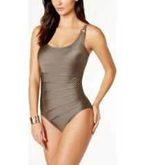 calvin klein starburst one-piece swimsuit, created for macy's women's swimsuit