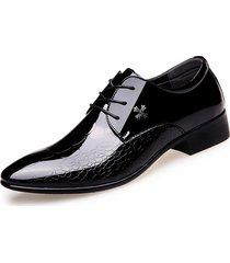 hombres zapatos oxford zapatos de oficina zapatos de vestir de negocios