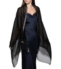inc sheer solid party wrap shawl, created for macy's