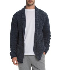 men's barefoot dreams shawl collar cardigan, size large - blue