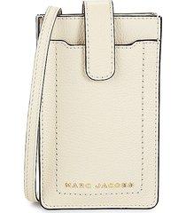 marc jacobs women's ns leather phone crossbody bag - black