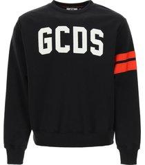 gcds crew-neck sweatshirt with logo