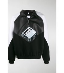 burberry logo graphic funnel neck track top