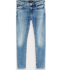 scotch & soda skim - silver ripple   skinny fit jeans