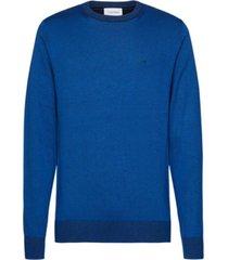sweater cotton silk c-neck azul calvin klein