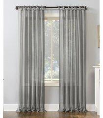 "no. 918 bethany slub textured sheer tie top curtain panel, 50"" x 96"""