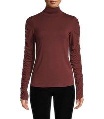 bailey 44 women's turtleneck long-sleeve top - pinot - size s