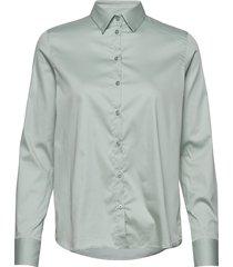 martina sustainable shirt overhemd met lange mouwen groen mos mosh