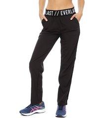 pantalón everlast legendary negro - calce ajustado