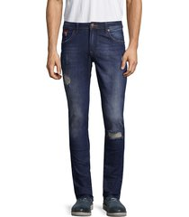 rnt23 distressed denim jeans - white red - size 30