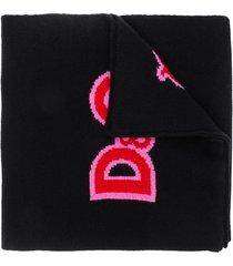 dolce & gabbana cashmere scarf - black