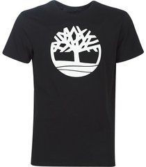 t-shirt korte mouw timberland ss brand reg tee black