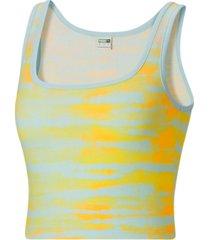 puma women's tie-dyed tank top