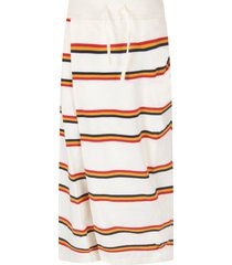marni ivory pants for girl with colorful stripes