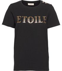 fqetoile-tee t-shirts & tops short-sleeved svart free/quent