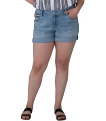 jag plus size alex boyfriend jean shorts