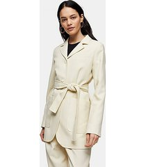 *ivory wool mensy wrap blazer by topshop boutique - ivory