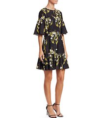 alba floral crepe dress