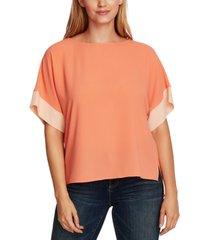 vince camuto dropped-shoulder colorblocked blouse