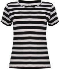 camiseta mujer franjas color blanco, talla xs