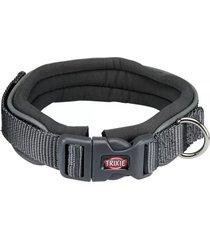 trixie collar premium perros neopreno gris talla l