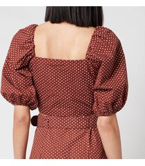 faithful the brand women's raylee top - bonnie dot print - s