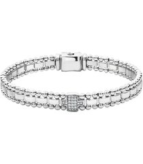 women's lagos caviar spark diamond station bracelet