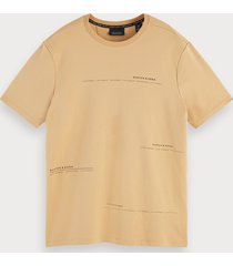 scotch & soda basic t-shirt met korte mouwen