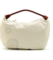 bolsa sacola desigual estampada off-white