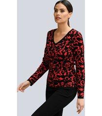 trui alba moda zwart::rood