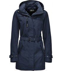 jack wolfskin jas kimberley coat midnight blue-l