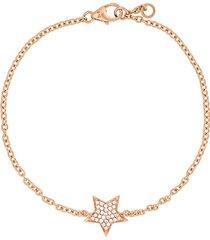 alinka stasia 18kt rose gold diamond star bracelet - metallic