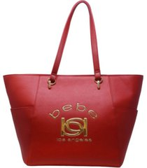 bebe kayla easy tote with pouch